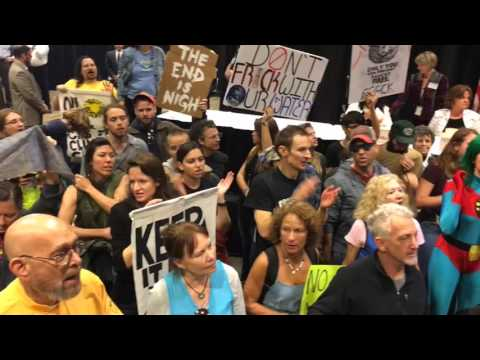Protesters Crash Gulf Oil Lease Meeting
