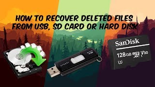 How To Recover Deleted Files From USB, SD card or From Hard Disk