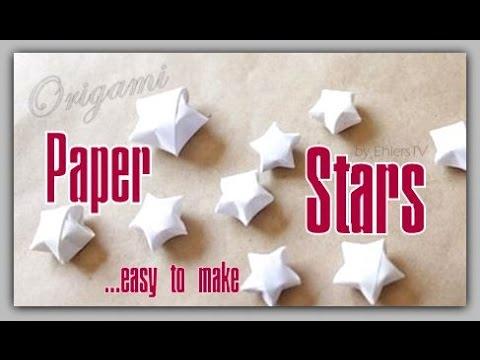 paper stars / origami stars tutorial - YouTube | 360x480
