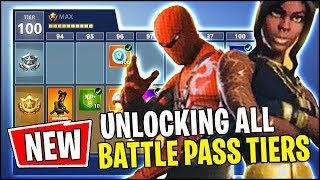 Fortnite SEASON 8 ALL BATTLE PASS REWARDS UNLOCKED (Tier 100)