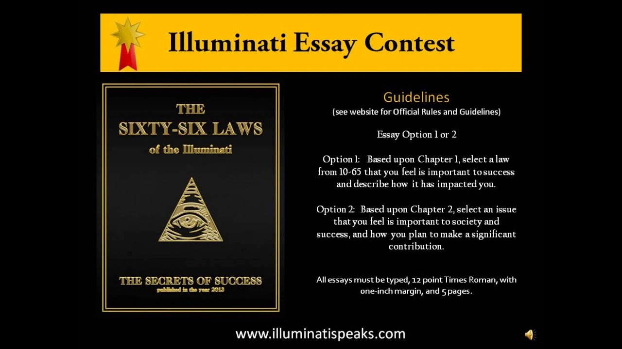illuminati laws essay contest illuminati 66 laws essay contest