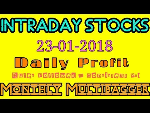 Day trading stocks 23-01-2018  Best stocks with huge potential for intraday