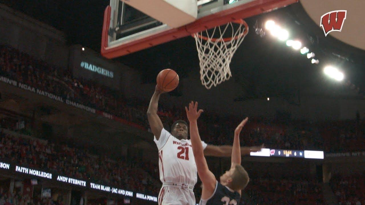 Iverson's Career High 17 Points Leads Badgers Past Yale ...