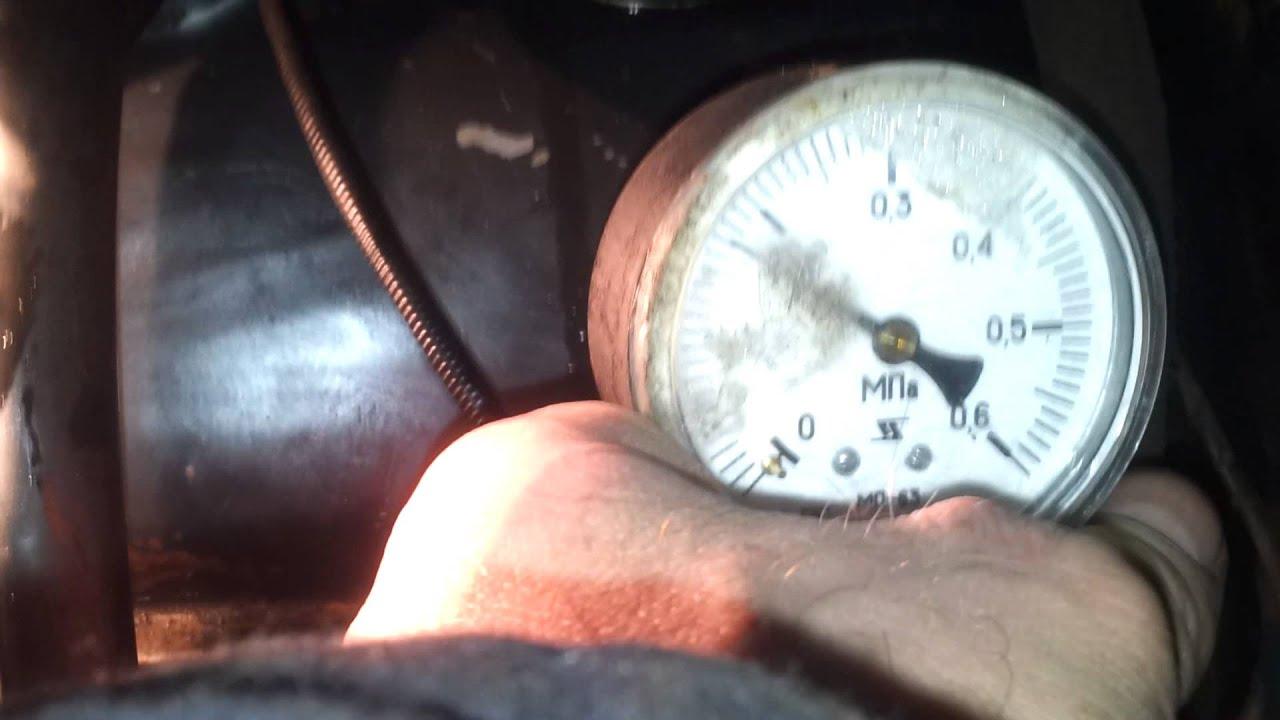Проверка давления масла в двигателе ВАЗ-2103