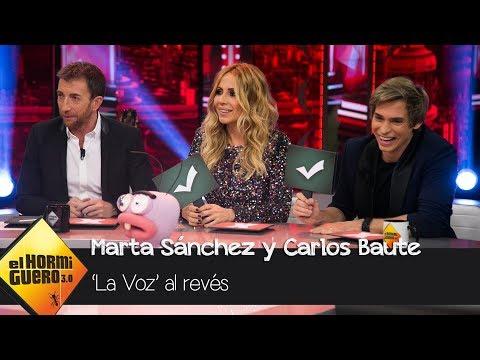 Carlos Baute y Marta Sánchez son jurado de 'La Voz al Revés' - El Hormiguero 3.0