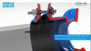 Hawle Synoflex - фиксирующее универсальное соединение для всех видов труб.(