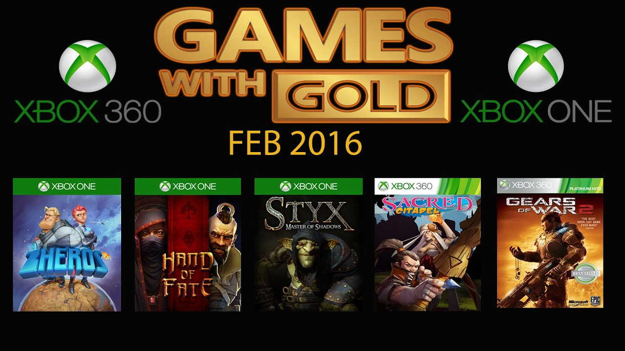 Xbox Live Games With Gold February 2016 Xbox One Xbox