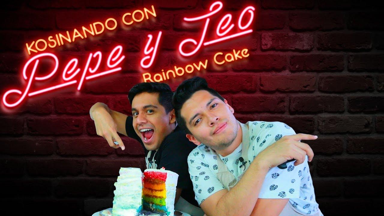 Rainbow Cake / Pastel Arcoíris Receta
