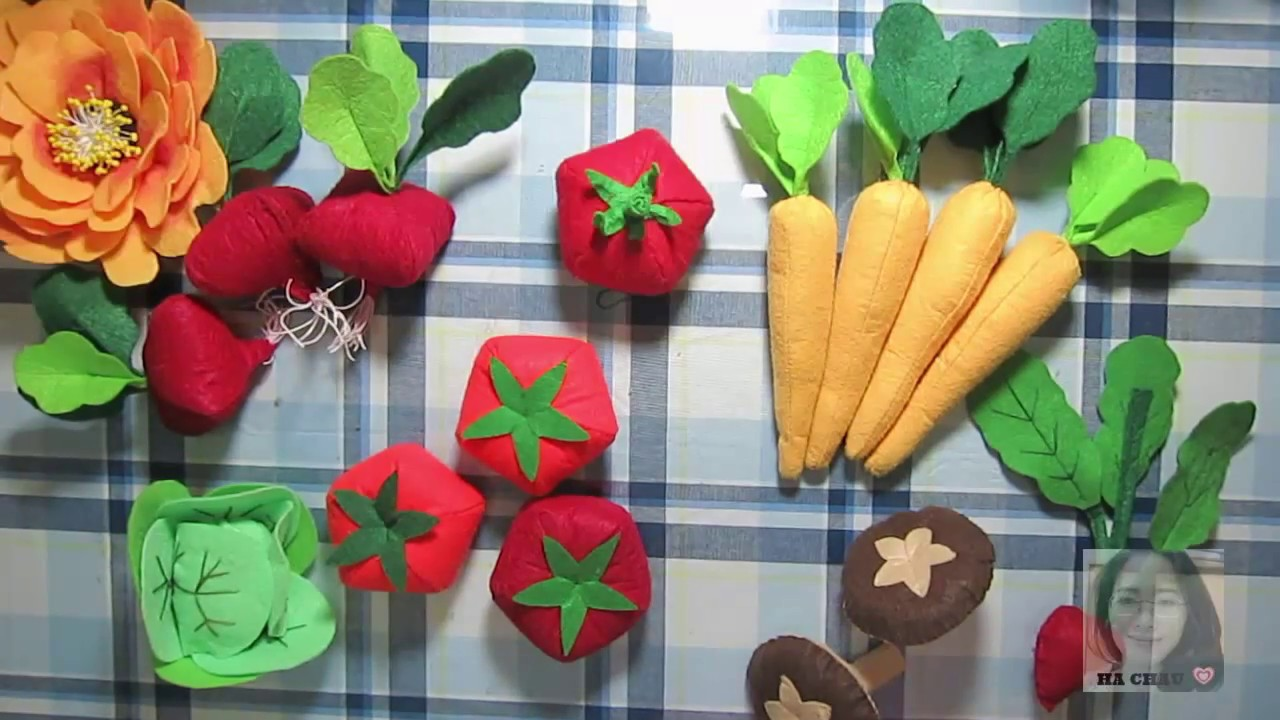 Tự làm đồ chơi cho bé – Củ cải đỏ vải nỉ -HÀ CHÂU