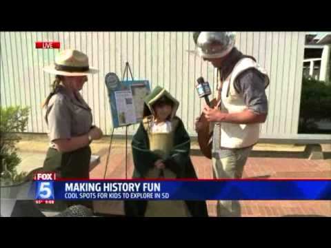 Fox 5 Cabrillo National Monument Aug 6, 2013 with Chloe Noelle