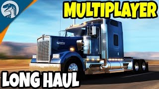 BIG CONVOY LONG HAULS & HUGE CARGO | American Truck Simulator Multiplayer Gameplay