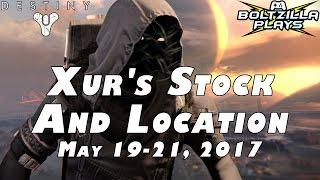Destiny: Xur Location May 19-21 2017