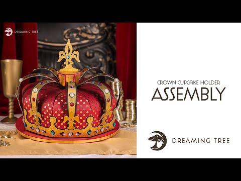 SVG File - Crown Cupcake Holder - Assembly Tutorial