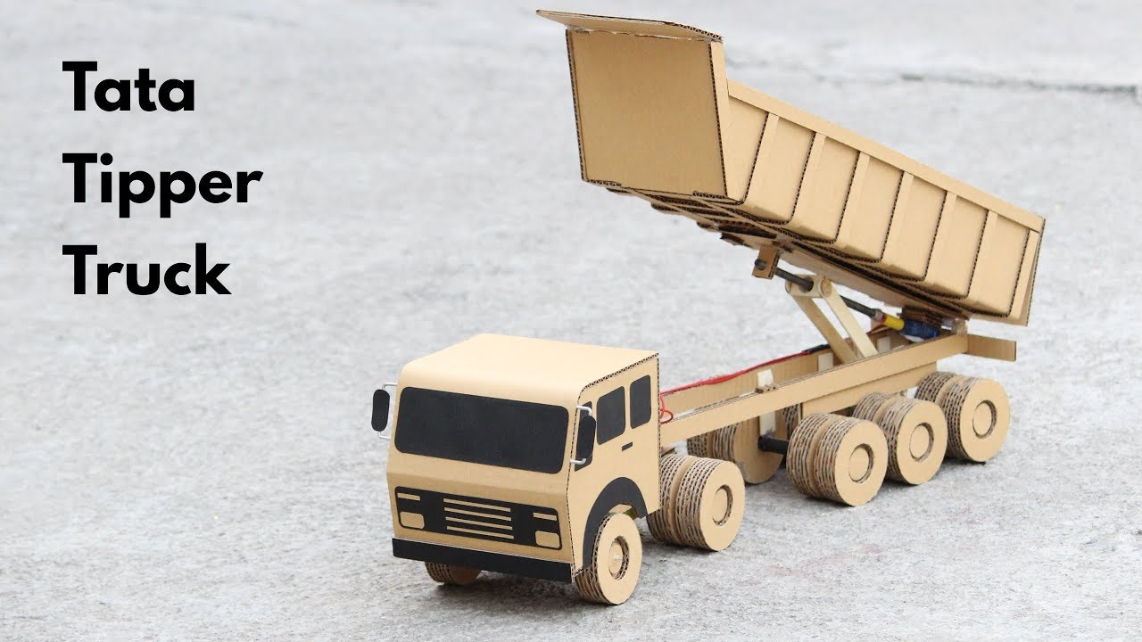 Download How To Make RC Tipper Truck From Cardboard    Very Simple