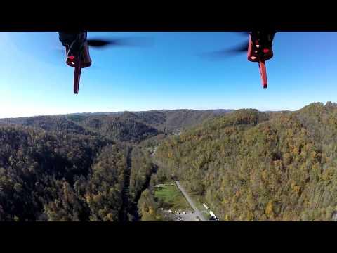 DJI Hexacopter over Old Swinging Bridge New Richmond, West Virginia