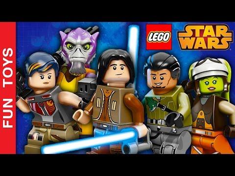 TODOS os personagens da série REBELS da Disney XD do jogo Lego Star Wars Despertar da Força Gameplay