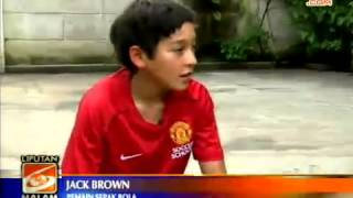 "iProud - Jack Brown, Anak Indonesia Peraih ""The World Skill Test 2012 MU Soccer School"""