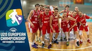 Georgia v Sweden - Full Game - FIBA U20 European Championship Division B 2019