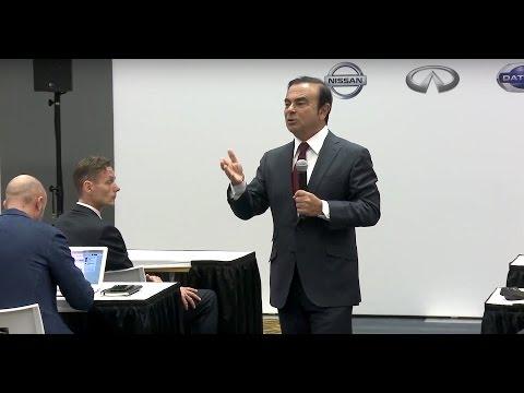 Carlos Ghosn's media Q&A at 2016 Detroit motor show