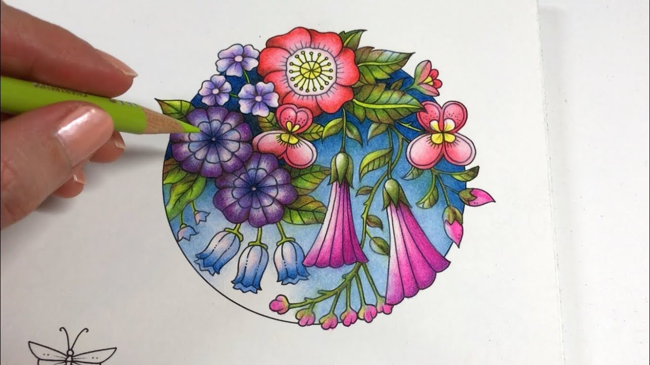 BASIC FLOWERS COLORING Blossom 24 World of Flowers by