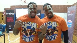 wwe s the usos read to kids at johnson elementary denver public schools