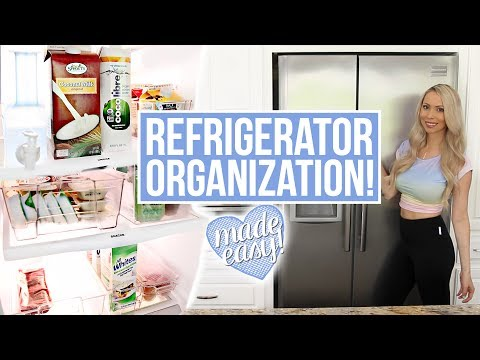 FRIDGE ORGANIZATION! How to Clean & Organize the Refrigerator