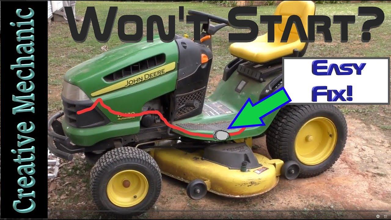 John Deere lawnmower won   t start   Easy fix   Air in fuel lines