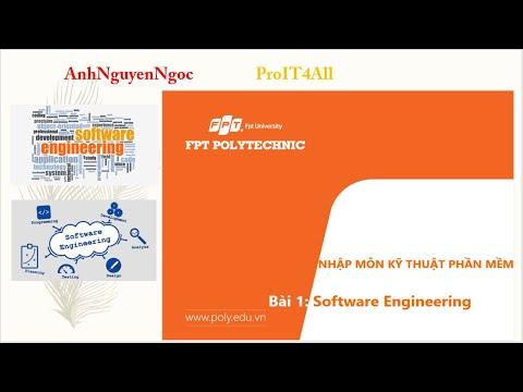 Bài 1: Giới thiệu về công nghệ phần mềm (Software Engineering)
