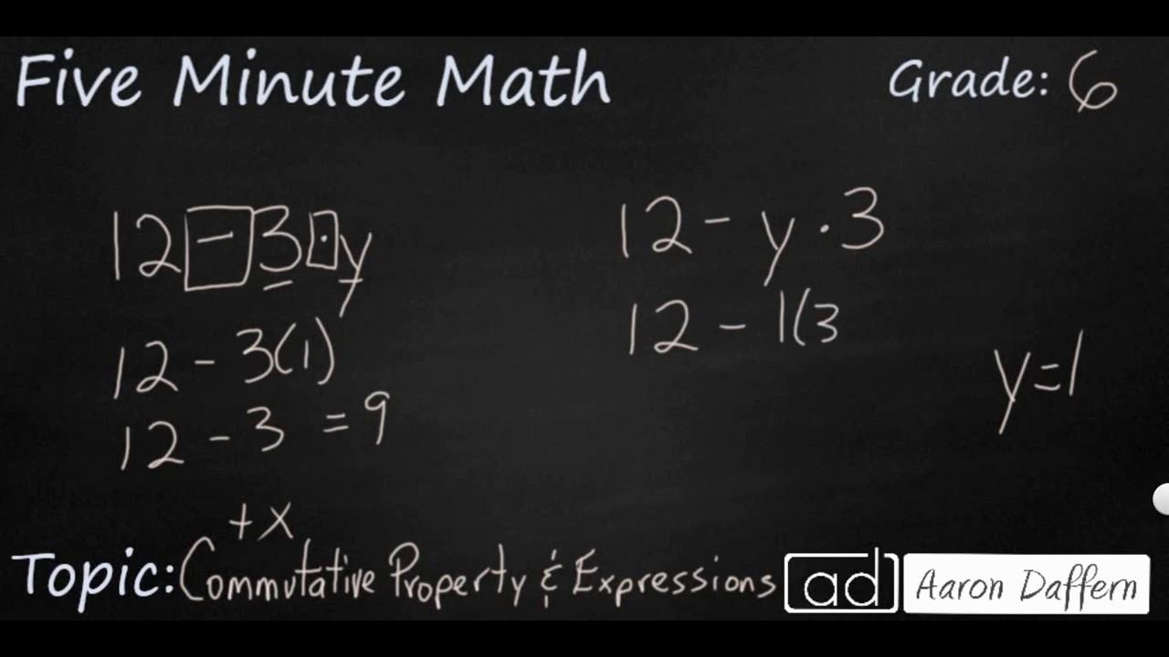 6th Grade Math - Properties of Operations