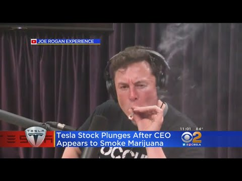 Tesla Stock Takes A Hit After CEO Elon Musk Puffs On Joint In Interview