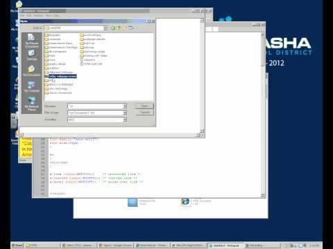 Opening an HTML File using Notepad