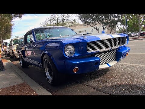 EPIC '66 Shelby GT350 Startup Sound in Hollywood!!