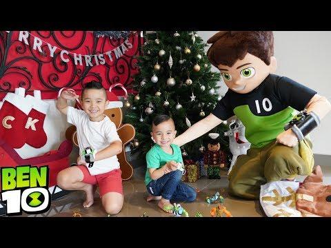 It's a BEN 10 Christmas with Calvin and Kaison CKN Toys