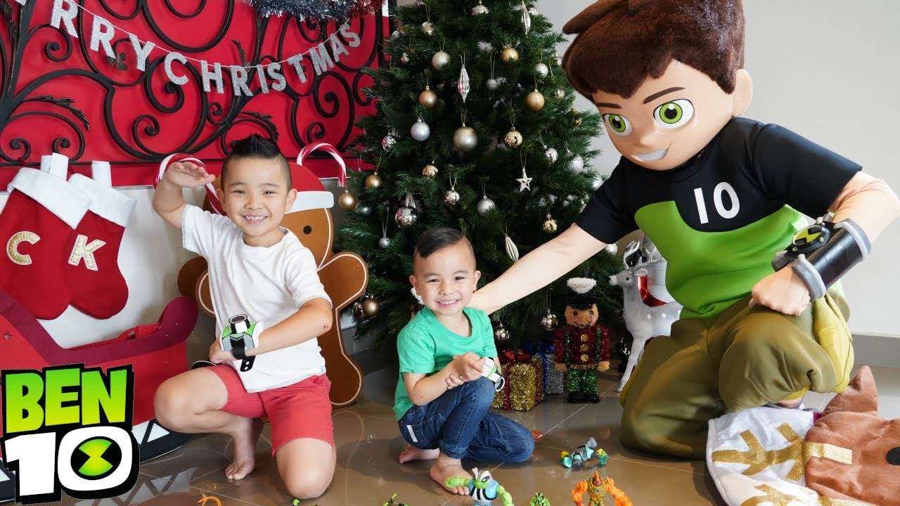 Its a BEN 10 Christmas with Calvin and Kaison