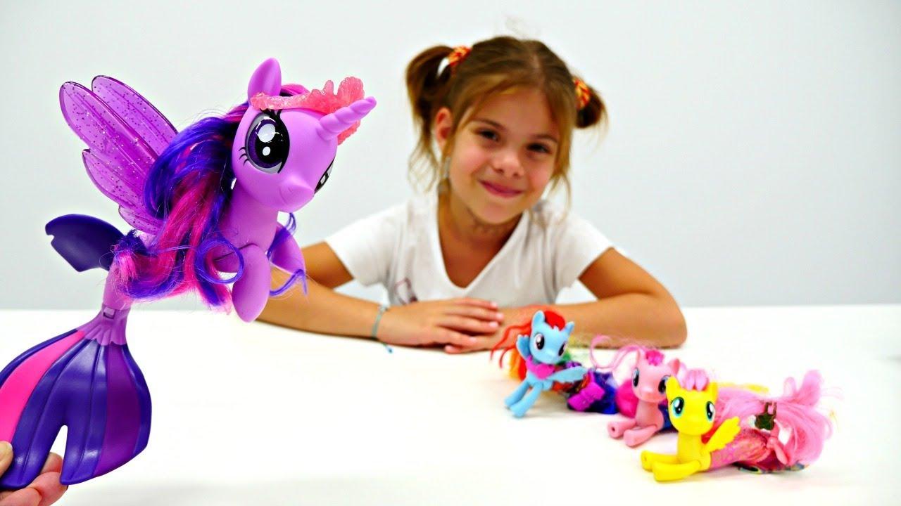 Литл Пони превратились в русалок! Мультики для Детей - YouTube