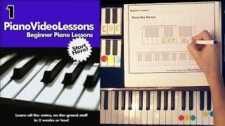 Lesson 1 - Learn the Piano Key Names FREE Beginner Piano Video Lessons(Printable materials to accompany this lesson are available here: http://courses.pianovideolessons.com/lessons/piano-key-names/ What are the names of the ..., 2014-11-22T14:29:59.000Z)