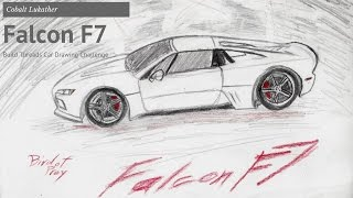 The First Build Threads Car Drawing Challenge Submission! - Falcon F7 by Cobalt Lukather