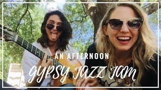 Gypsy jazz jam with Luca Pino