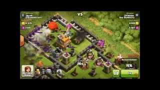 WORST RUSHED BASE IN CLASH OF CLANS! TH7 WITH LEVEL 4 WALLS.