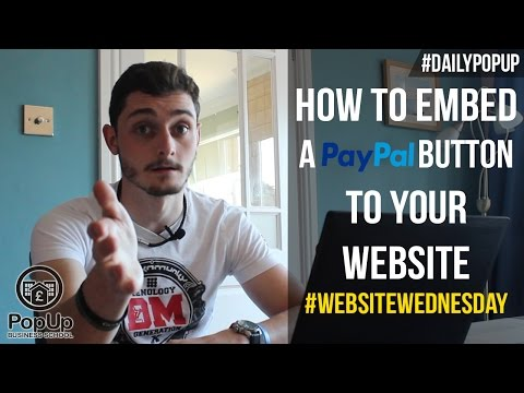 How To Add A PayPal Button To Your Website│PopUp Business School