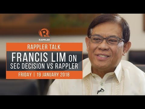 Rappler Talk: Francis Lim on SEC decision vs Rappler
