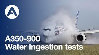 A350 XWB water ingestion tests