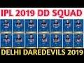 IPL 2019 Delhi Daredevils Team Squad | Indian Premier League 12 | DD Probable Team | DD  Player List