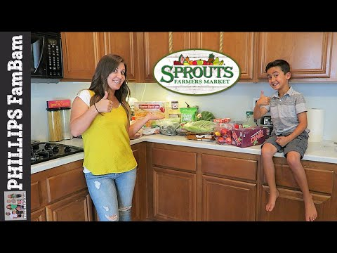 SPROUTS FARMERS MARKET GROCERY HAUL then $50 GIVEAWAY WINNER