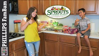 SPROUTS FARMERS MARKET GROCERY HAUL then $50 GIVEAWAY WINNER ANNOUNCEMENT | PHILLIPS FamBam Hauls