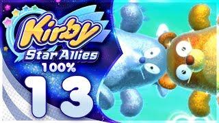GOLDON & SILVOX! Kirby Star Allies - 100% Walkthrough: Far-Flung Starlight Heroes | Part 13!