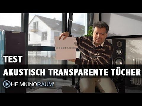Know-How und Test: Akustisch transparente Leinwände