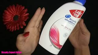 Head and Shoulder Smooth and Silky Shampoo Review and tips for hair straightening Jane is video me