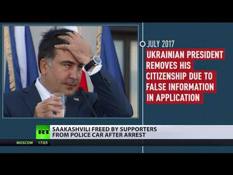 Saakashvili's Ups & Downs: From eating tie to Kiev rooftop