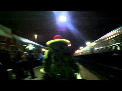 Посадка на поезд №30 Новороссийск - Москва, съёмка с рук
